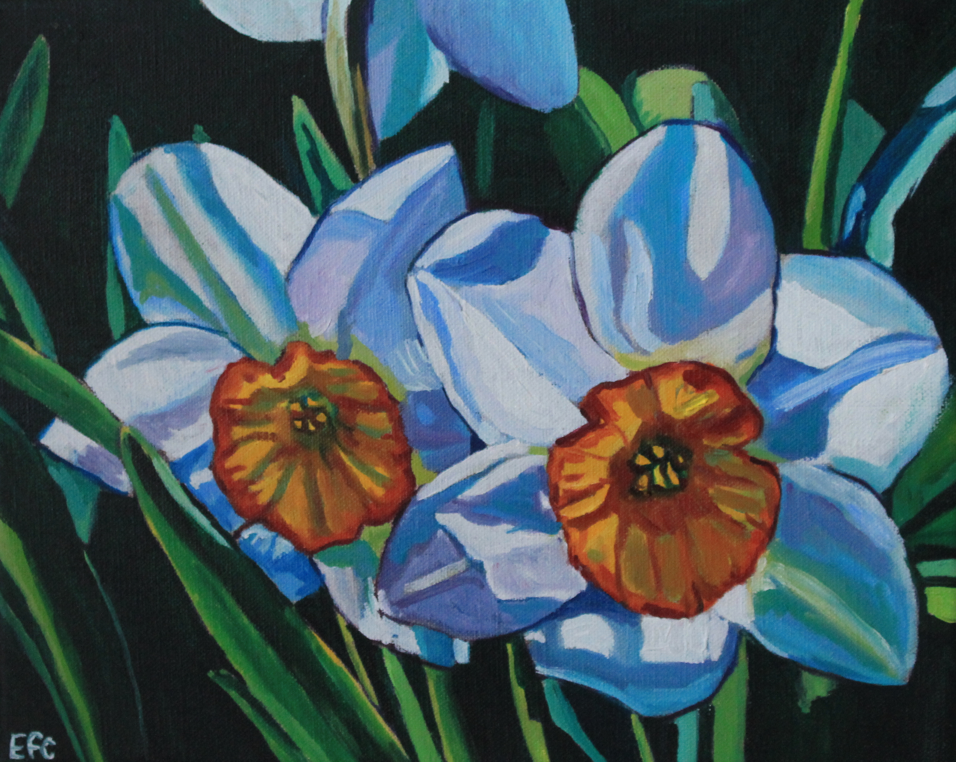 painting of daffodils