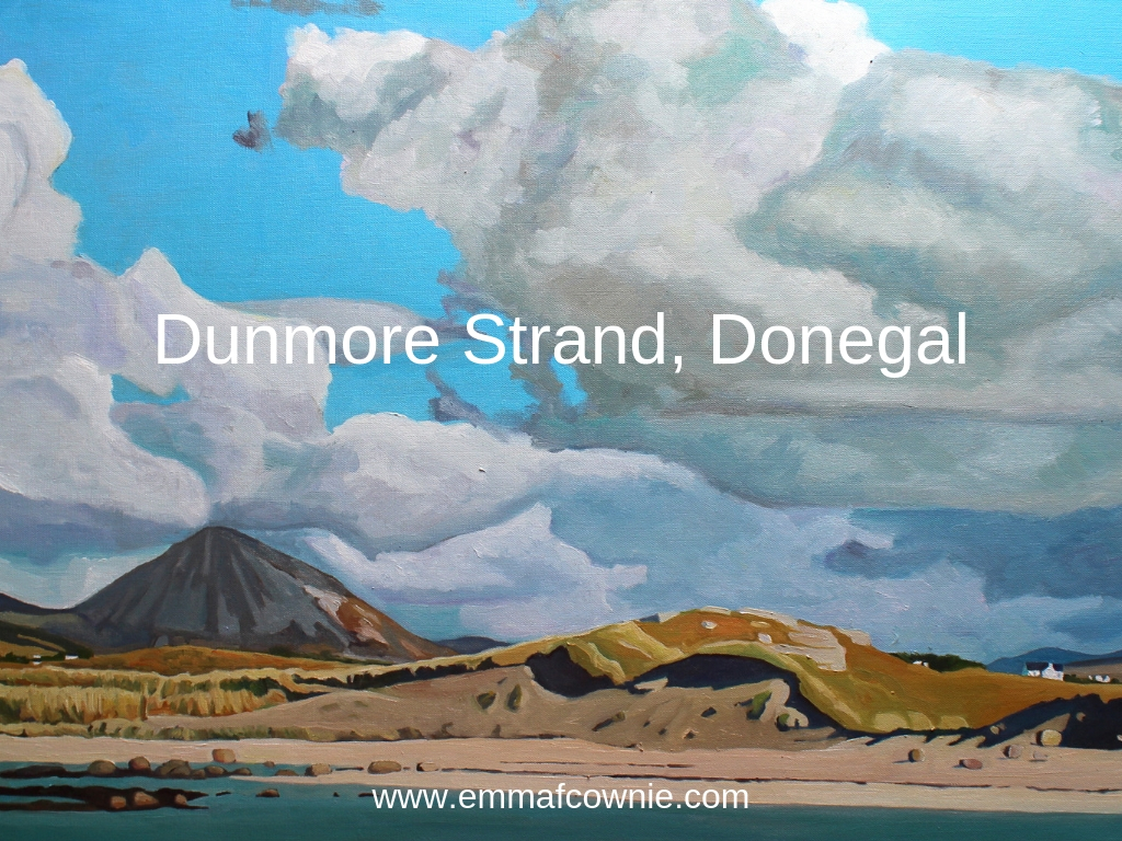 Painting of Donegal landscape beach,