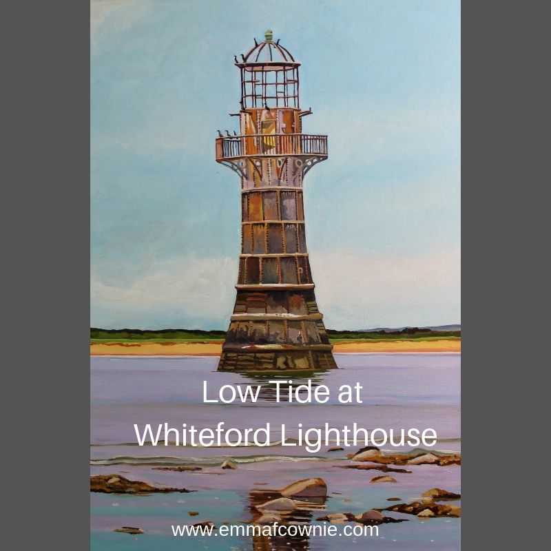 Painting of Gower, Whiteford lighthouse