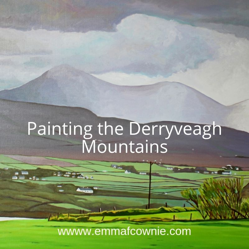 Painting the Derryveagh Mountains