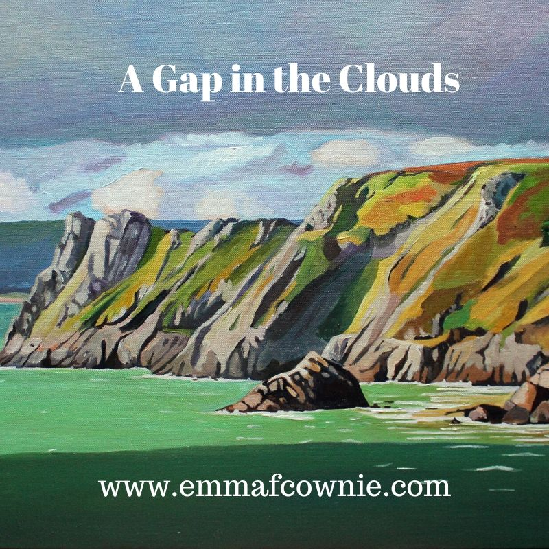 Great Tor, Gower painting by Emma Cownie
