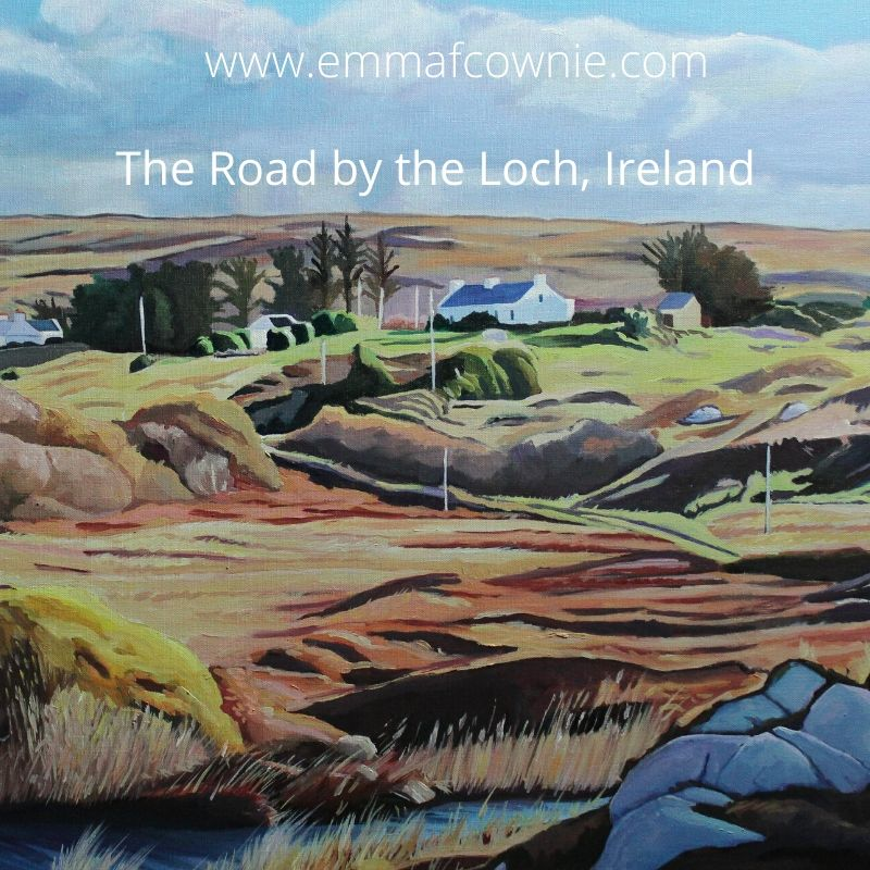 Landscape Painting of Donegal Ireland by Emma Cownie