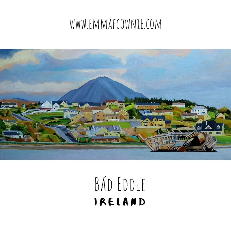 Painting of Bad Eddie by Emma Cownie